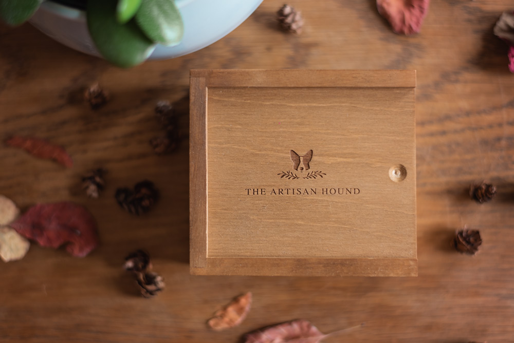 wooden usb box with engraving