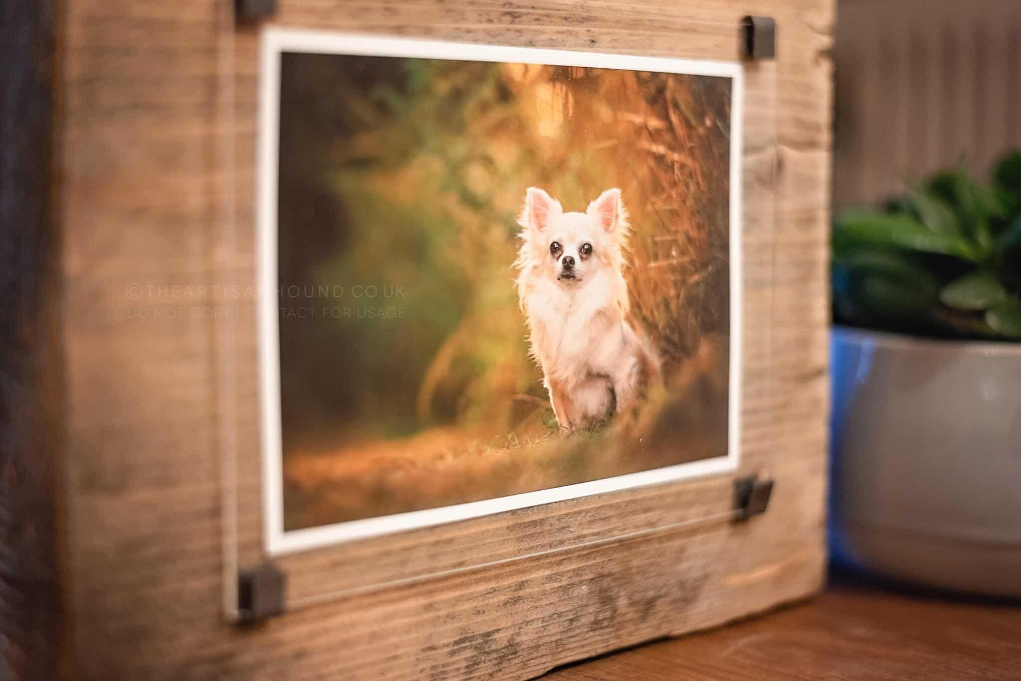fine art print mounted on wood