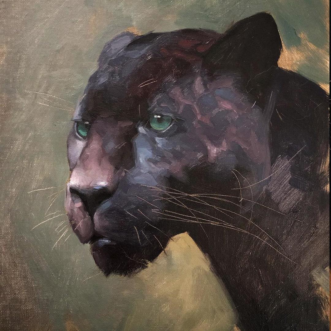 black-panther-paiting-jennifer-gennari