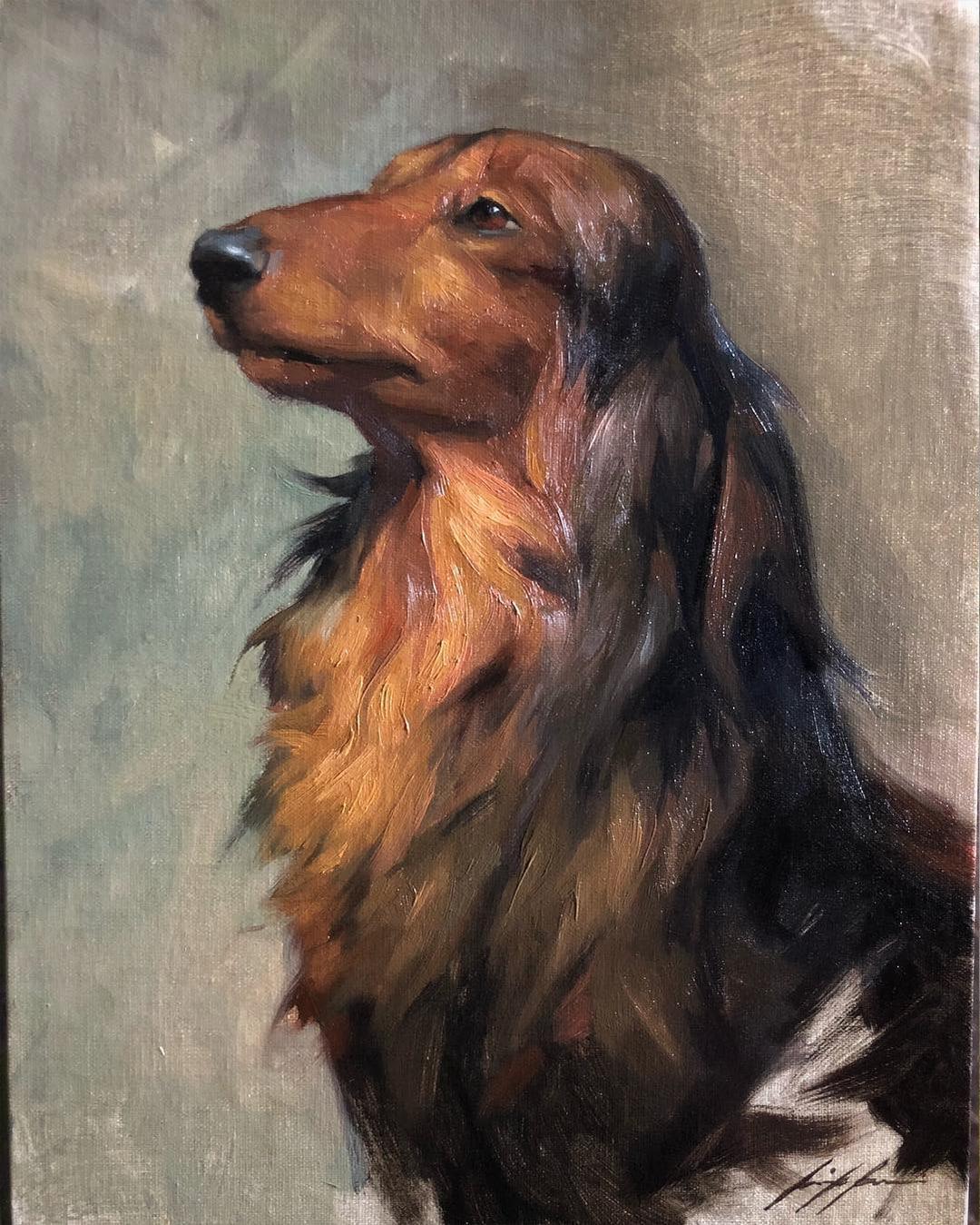 dachshund-oil-painting-jennifer-gennari
