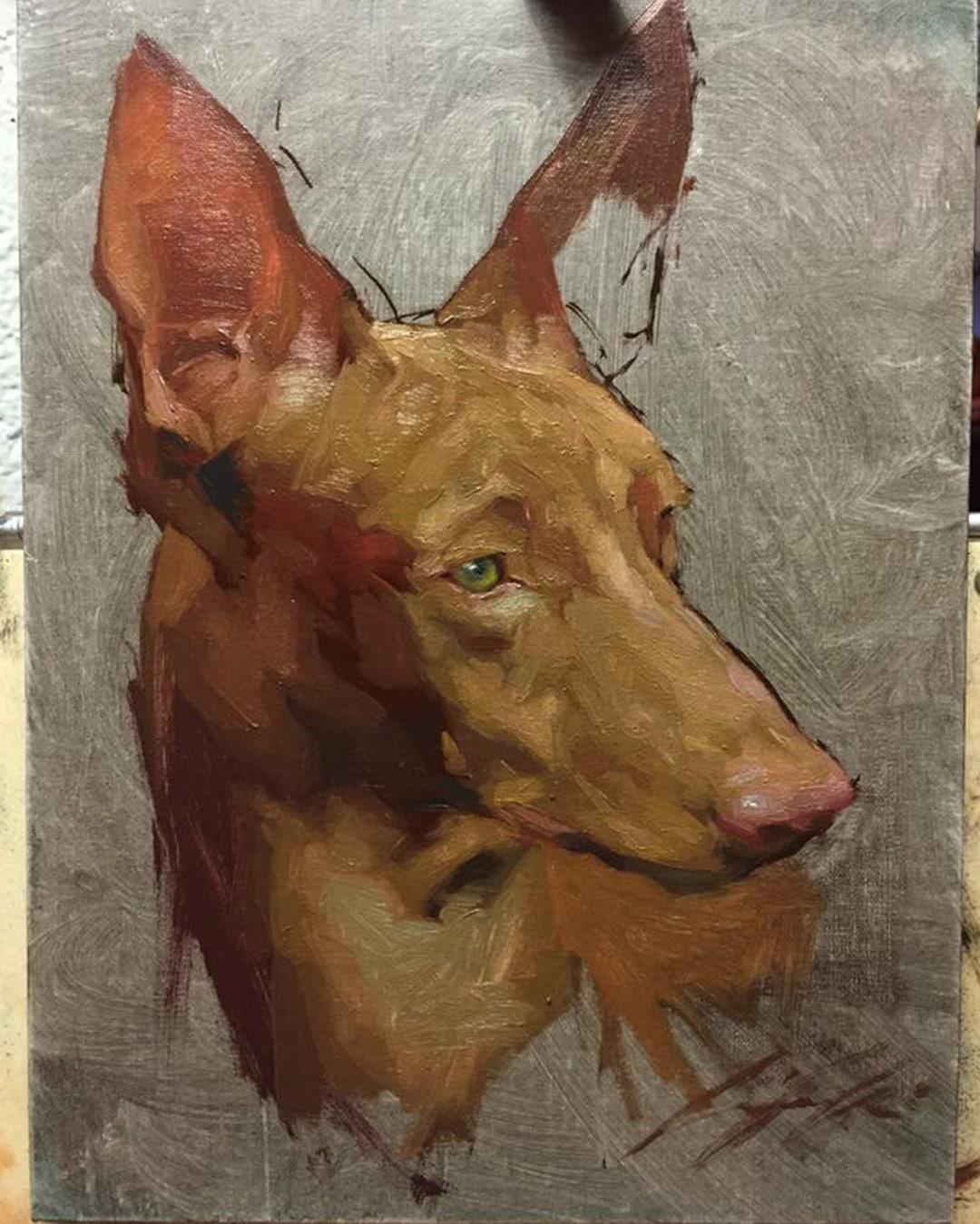 dog-oil-painting-portrait-jennifer-gennari