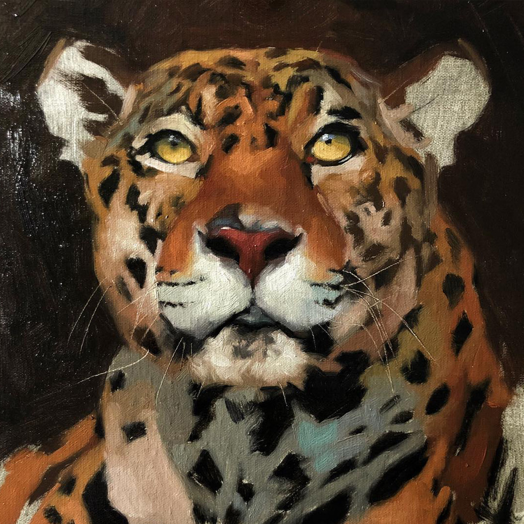 leopard-oil-painting