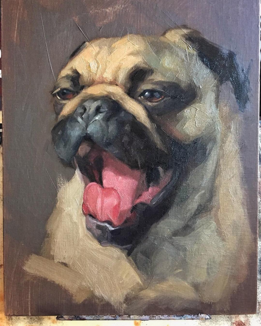 pug-portrait-painting-jennifer-gennari