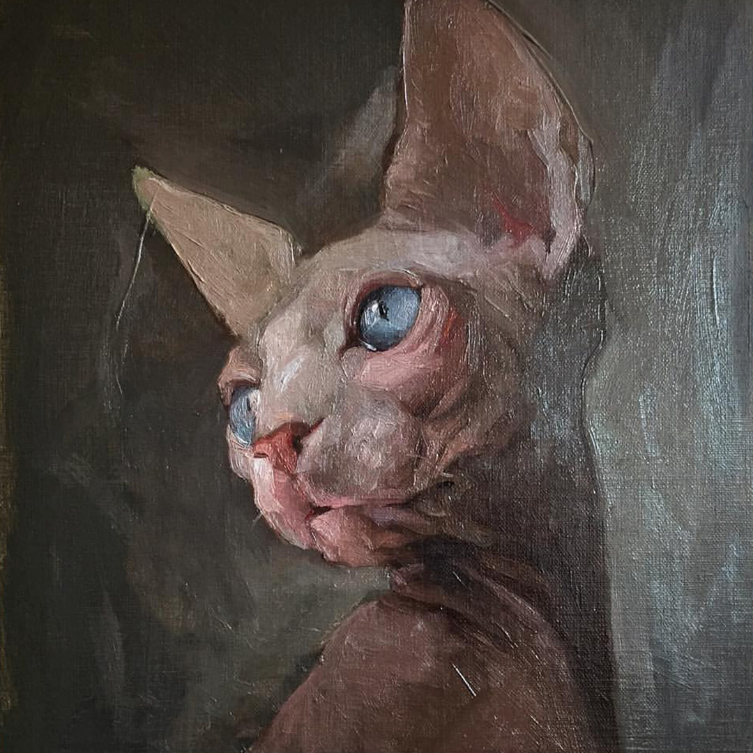 sphynx-cat-painting-jennifer-gennari